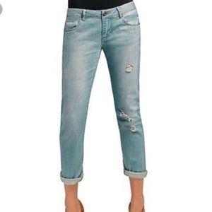 CAbi light denim distressed boyfriend jeans